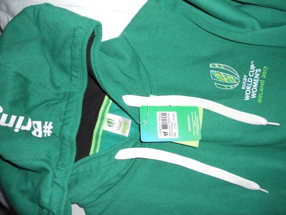 Спортен суитшърт блуза с дълги ръкави размер Л ХЛ в зелен цвят с