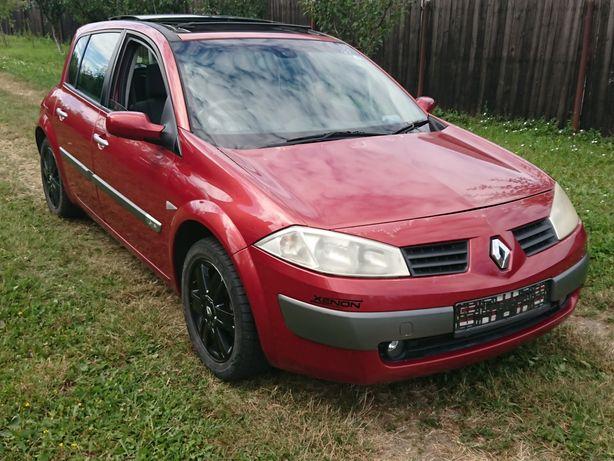 Dezmembrez Renault Megane 2 1.6 16v benzina hatchback panoramic rosu