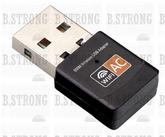 Wireless USB WiFi Adapter 600Mbps wi fi Dongle PC Network Card Dual Ba