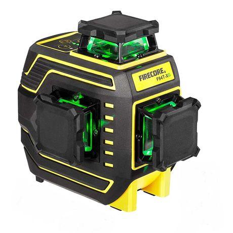 Лазерен нивелир Firecore 94T-XG, Зелен лъч, Обхват 25м, Удароустойчив