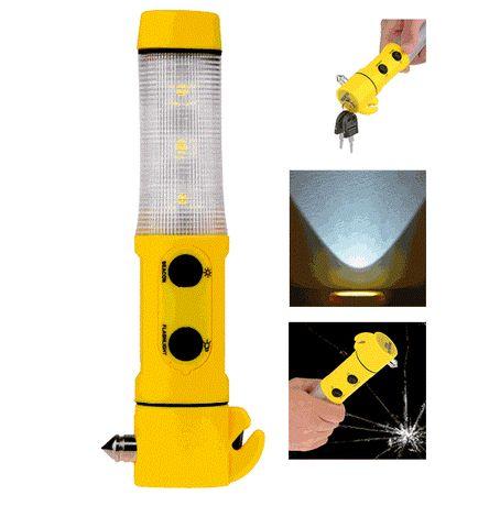 Фенер 6в1-многофункционална SOS аварийна лампа с нож, чук и магнит