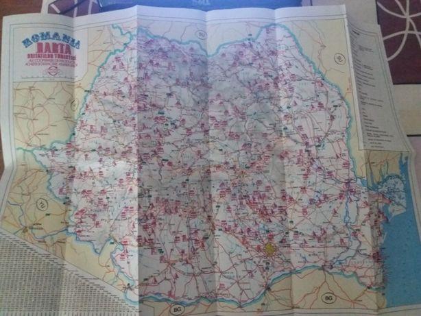 harta unitatilor turistice romania coop anii 1960