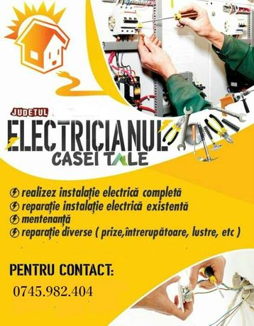 Electrician pasionat si Autorizat ANRE Non-Stop 24/7 *prețuri minime