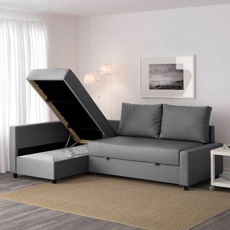 Уголок диван серого цвета , уютный в пользовании был пол года
