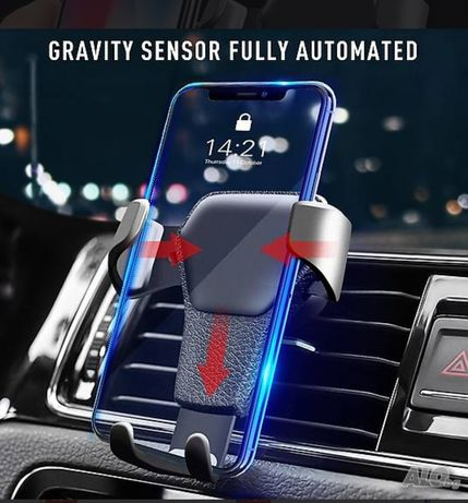 Автоматична Стойка за телефон за кола автомобил, с гравитация