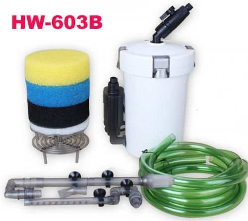 Външен филтър (канистър) за аквариум с дебит 400 литра/час