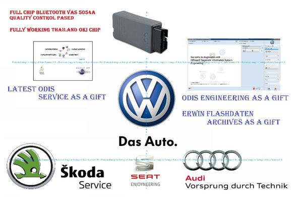 Full Chip VAS 5054A ( не VAG COM / ВАГ КОМ) - за Audi Seat Skoda VW