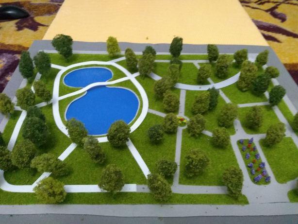 Macheta parc cu lac