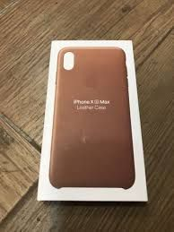 Husa Apple Piele iPhone Xs Max Saddle Brown ORIGINALA! Folie Cadou