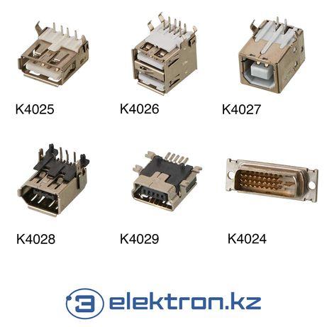 Разъем USB,mini USB,DVI,IEEE 1394,USB-B(принтер)на плату купить