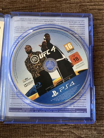 UFC 4, диск для playstation 4
