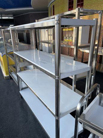 Полки стеллажи нержавеющей стали производственные Мойке стол тележки
