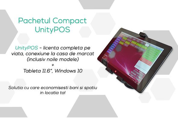 Sistem Compact Vanzare Gestiune Tableta UnityPOS Conexiune Casa Marcat