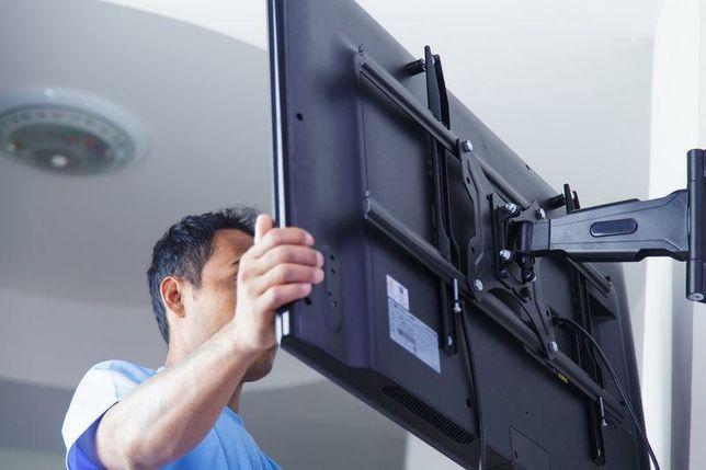 Установка подвеска телевизора на стену настроика отау тв