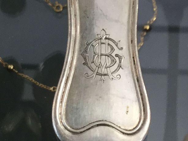 """Linguriță argint veche 1900 Semnata """"Vincent Mayer's Sohne"""" Austria"""