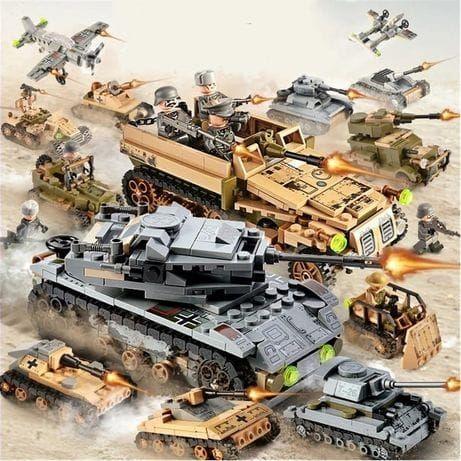 NOU 1050 piese Armata tehnic tanc technic city auto tip lego soldati