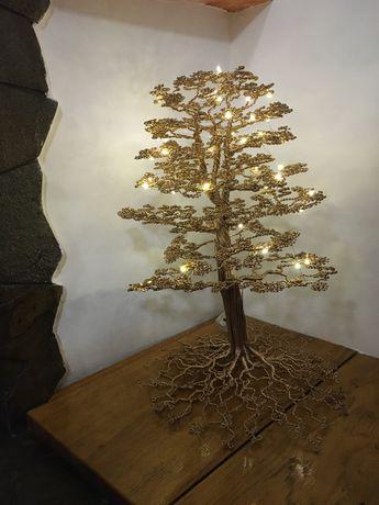 Copaci decorativi handmade din sarma