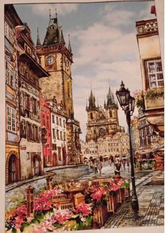 Картина Прага , площадь Вацславская