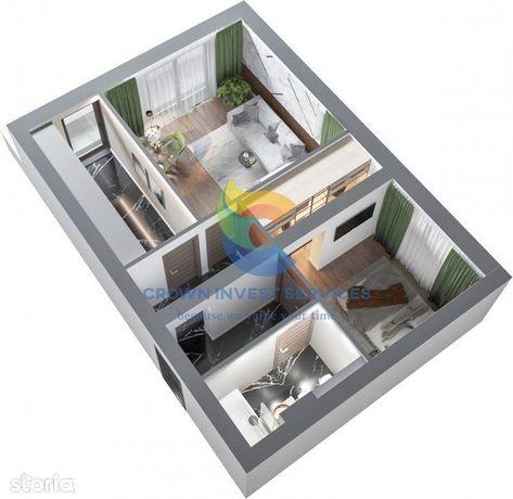 Apartament 2 camere,61mp,decomandat, etaj 10, zona Frumoasa, Granit