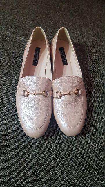 Pantofi dama / femeie nud roze piele naturala GARCONY FELICIA nr39 noi