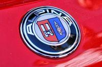Алпина БМВ емблема 82мм / Аlpina BMW emblem logo