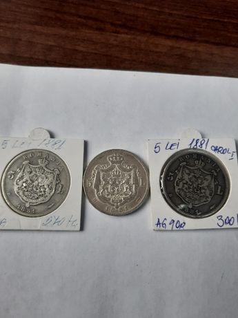 monede argint 1881