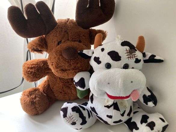 Играчки куче, крава, мече, заек лот