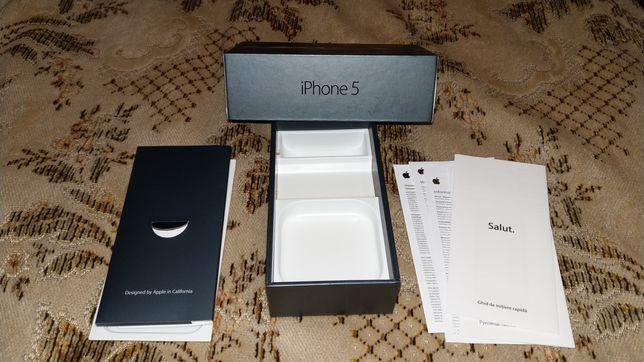 Vând cutie iPhone 5 Black 16 GB