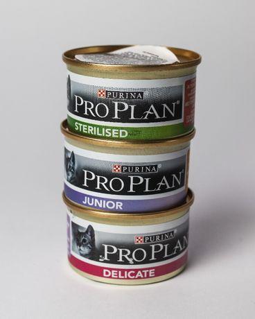 Консервы,Паштет ProPlan (проплан) для стерилизованных, деликат, котят.