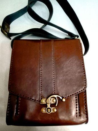 Мъжка чанта естествена кожа