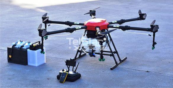 Селскостопански дрон Telstar TS16 16L вместимост + 4 батерии НОВ МОДЕЛ