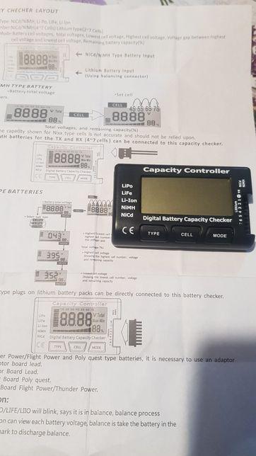 Verificator Capacitate baterie Cell meter 7