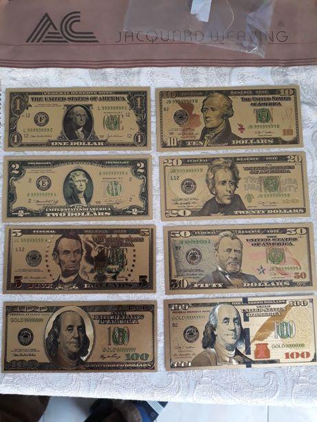 Bancnote placate cu aur 24karate