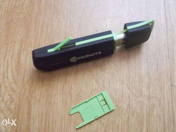 Cosmote 3G modem usb -slot pt micro sd card poate fi folosit ca stick