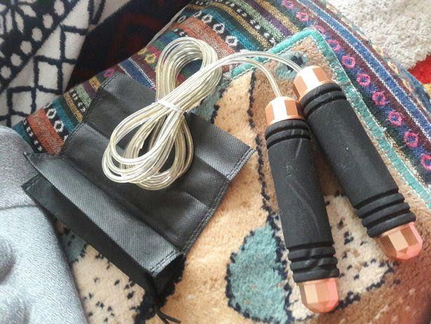 Скоростная металлическая скакалка с чехлом