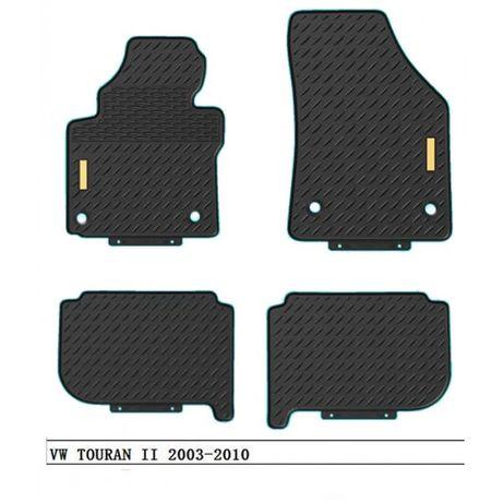 4 бр. гумени стелки за VW TOURAN 2003 - 09.2015 ФВ ТОУРАН