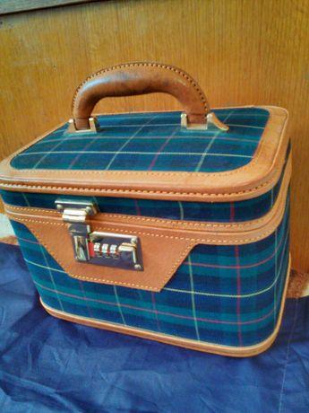 Куфар от естествена кожа с шифър