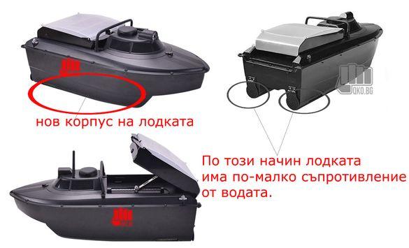 лодка за захранка, GPS +17 или 9 позиции + Сонар 0,5км