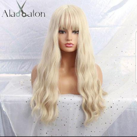Peruca noua cu eticheta blond cu breton ondulata