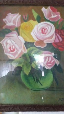 Vând tablou în ulei pe carton