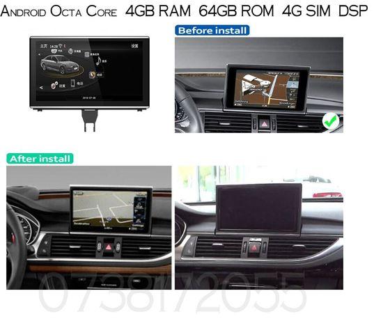 Navigatie  Audi A6 A7 Android MMI 3G   GPS 4G WI-FI Waze internet