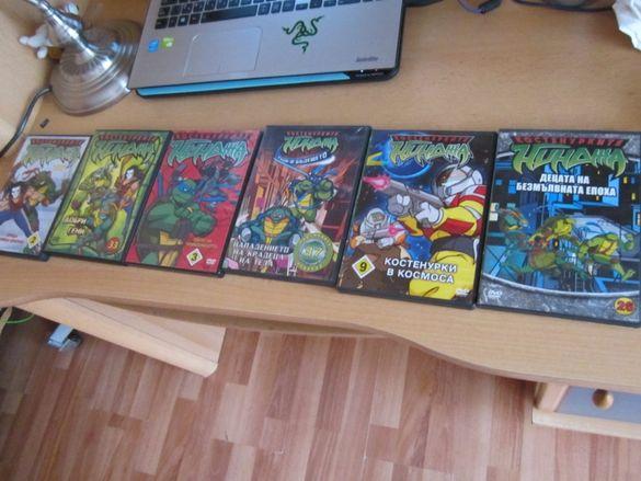 Костенурките Нинджа филмчета на DVD