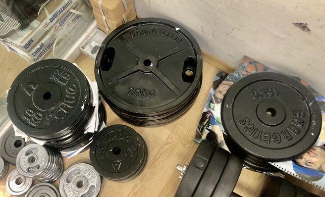 Disc discuri haltera gantere de metal 10,15,20 kg 10 ron kg
