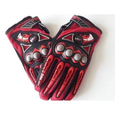 Мото ръкавици червени с протектор модел:MC05-3
