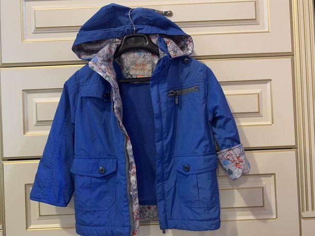 Курточка на мальчика утепленая флисом