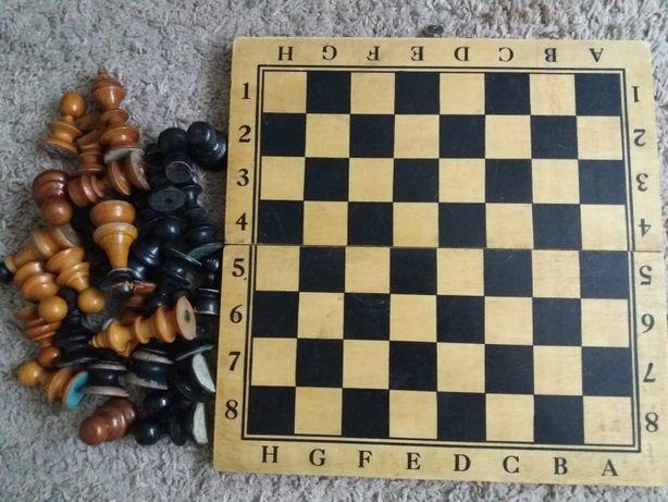 Joc Sah cutie+piese din lemn