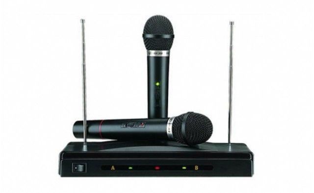 Set 2 microfoane Wireless + Receiver AT-306