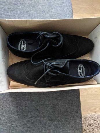 Pantofi barbati nr 44 negri piele intoarsa Tourbilon