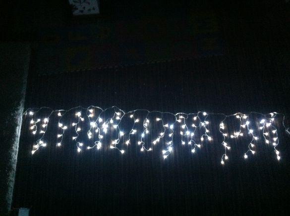 Коледна украса - Коледни лампички тип завеса LED ПРОМОЦИЯ