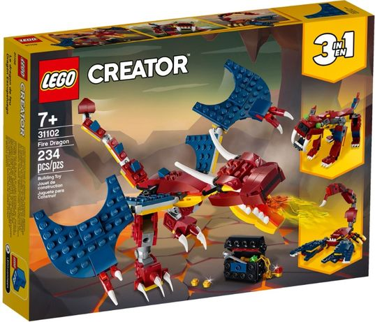 LEGO 31102 Creator Огненный дракон новый, оригинал !